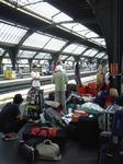 チューリッヒ駅にて